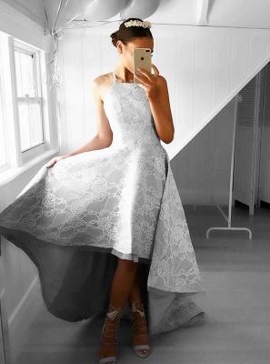 Forme Princesse Traîne asymétrique Dos nu Dentelle Robes de bal avec Dentelle_3