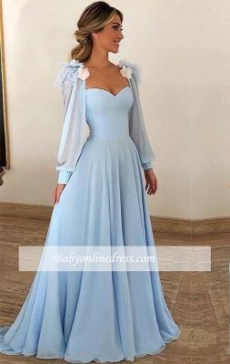 Robe de Princesse traîne balayage Col en cœur Robes de soirée 2021 à Fleurs_1