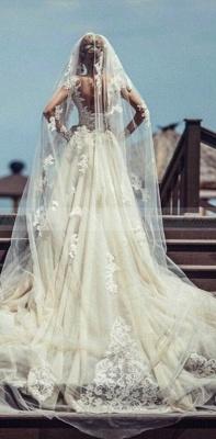 Robe de mariée sirène longue dentelle manches longues | Robe de mariage trompette dentelle_5