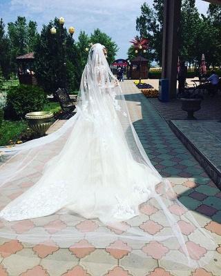 Robe de mariée sirène longue dentelle manches longues | Robe de mariage trompette dentelle_7