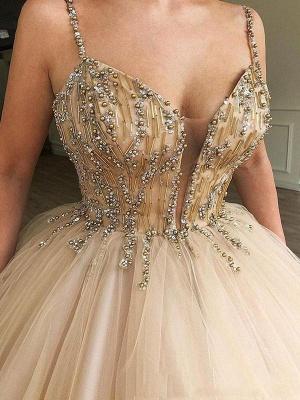 Robe de bal princesse bretelles fines | Robe de soirée princesse chic avec perles_3