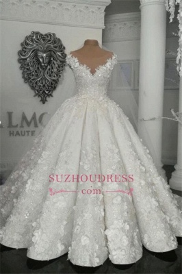 Robes de mariée de luxe en cristal 2020 | Robes de mariée en tulle transparent avec perles BC0708_5