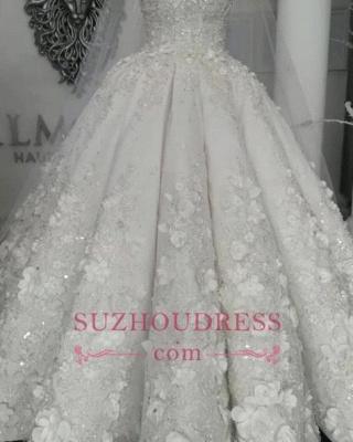 Robes de mariée de luxe en cristal 2020 | Robes de mariée en tulle transparent avec perles BC0708_3