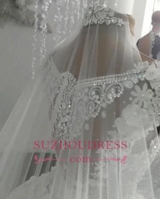 Robes de mariée de luxe en cristal 2020 | Robes de mariée en tulle transparent avec perles BC0708_4