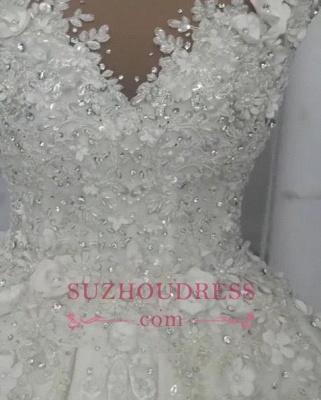 Robes de mariée de luxe en cristal 2020 | Robes de mariée en tulle transparent avec perles BC0708_2