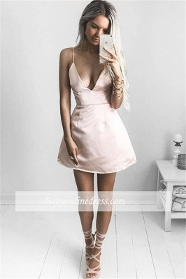 Robe de soirée princesse courte chic | Robe de cocktail princesse col en V_3
