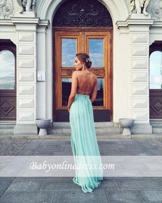 Forme A-line Longueur ras du sol Col en V Mousseline polyester fashion robe couleurs au choix_1