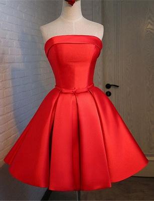 Forme princesse robe de cérémonie robe courte haute qualité couleurs au choix_1