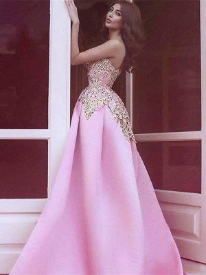 Forme princesse robe de cérémonie en satin bonne qualité reborderie d'or longueur sol_3