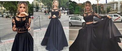 Forme Princesse Col U profond Longueur ras du sol Satin Robes de bal avec Dentelle_2
