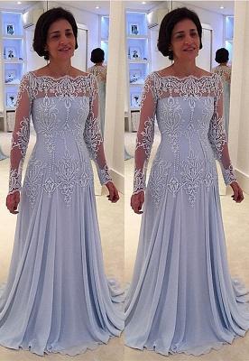 Forme Princesse Longueur ras du sol Mousseline polyester Robes de bal 2021 avec Dentelle_1
