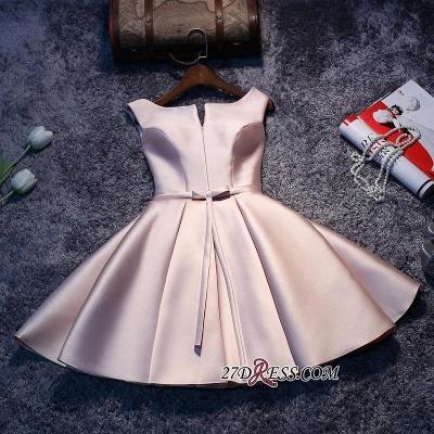 Forme Princesse Court/Mini Robe d'étudiant Satin Pas Cher_1