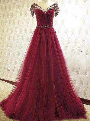 Forme musique robe de soirée élégante décolleté avec cristal longueur sol_1