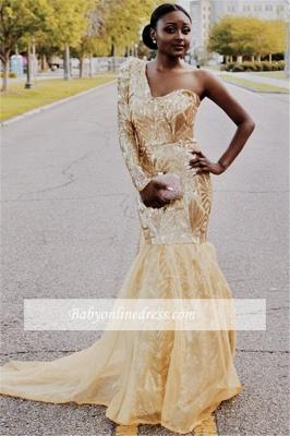 Robe de soirée sirène épaules asymétriques | Robe de cérémonie trompette chic_4