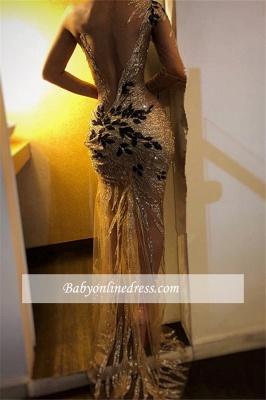 Robe de soirée sirèene épaules asymétriques | Robe de cérémonie charmante_2