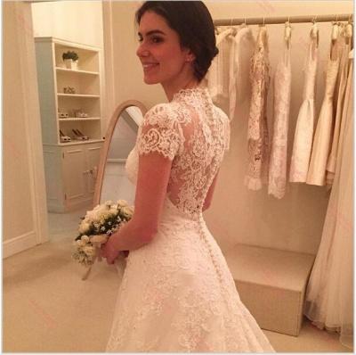 Forme Princesse alayage/Pinceau train Tulle Robes de mariée A-ligne avec Dentelle_2