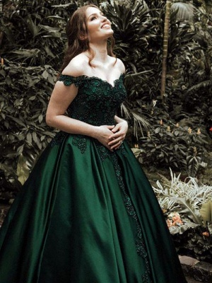 Robe de bal princesse dentelle épaules nues | Robe de soirée princesse longue chic_3