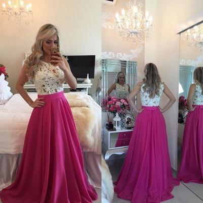 Forme Princesse Col rond Robes de bal avec Dentelle et perle couleurs au choix_2