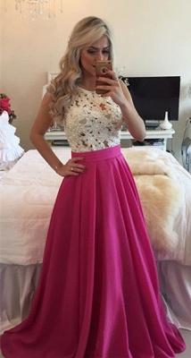 Forme Princesse Col rond Robes de bal avec Dentelle et perle couleurs au choix_1