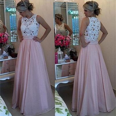 Forme Princesse Col rond Robes de bal avec Dentelle et perle couleurs au choix_4