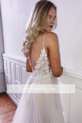 robe de soirée longue pailletté a-ligne en dentelle_2