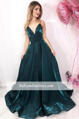 Robe de bal princesse col en V   Robe de soirée princesse moderne_2
