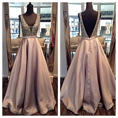 Forme princesse robe de soirée robe de bal col en V couleurs au choix_3
