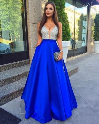 Forme princesse robe de soirée robe de bal col en V couleurs au choix_4