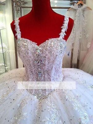Robe de mariée princesse avec bretelles | Robe de mariage princesse tulle luxueuse_2