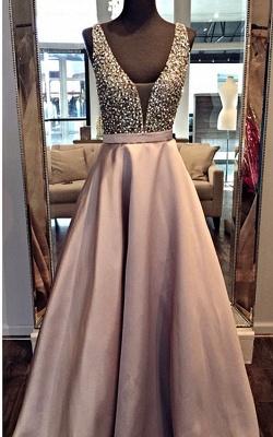 Forme princesse robe de soirée robe de bal col en V couleurs au choix_2