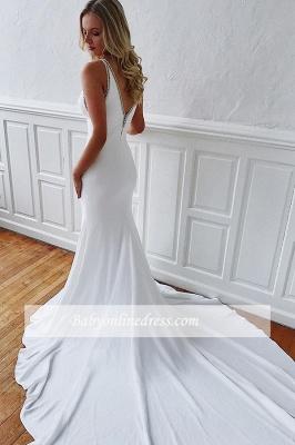 robe de mariée longue sirène trompette avec traîne_2