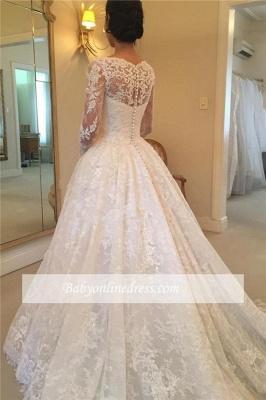 Robe de mariée princesse dentelle élégante | Robe de mariage princesse manches longues_1