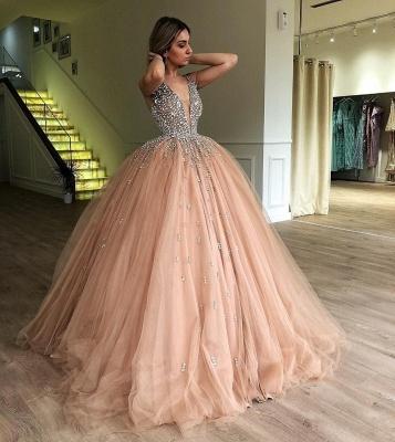Robe de bal princesse tulle avec perles | Robe de soirée princesse splendide_3