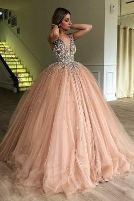 Robe de bal princesse tulle avec perles | Robe de soirée princesse splendide_2