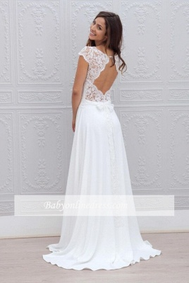 Forme Princesse alayage/Pinceau train Col bateau Robes de mariée 2020 avec Dentelle_2