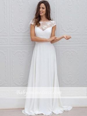 Forme Princesse alayage/Pinceau train Col bateau Robes de mariée 2020 avec Dentelle_3