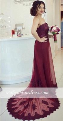Robe de soirée fourreau dentelle élégante | Robe de cérémonie gaine sans bretelles_2