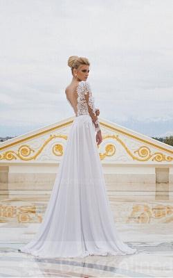 Forme Princesse Longueur ras du sol Col en V Mousseline polyester 2021 Robes de bal avec Dentelle_2